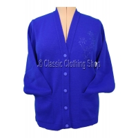 Care Royal Blue V-Neck Cardigan