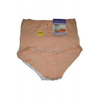 Ladies Plain Ribbed Full Briefs 3 Per Pack