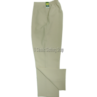 Stone Pinstripe Trousers