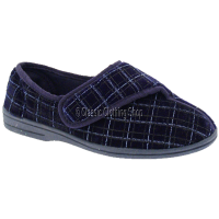 Mens Velcro Navy Slipper