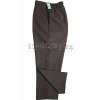 Brown Plain Trousers