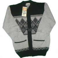 Black Zipper Knitted Cardigan