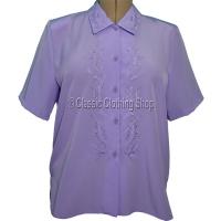 Lilac Nicole Lewis Short Sleeve Blouse