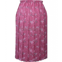 Pink Naomee Full Elastic Pleated Skirt
