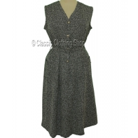 Taupe Short Fitting Jacquard Pinafore Dress