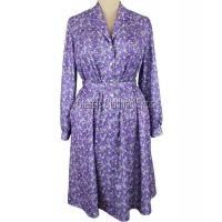 Lilac/Lavender Floral Long Sleeve Dress