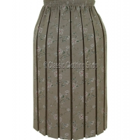 Taupe Naomee Full Elastic Pleated Skirt