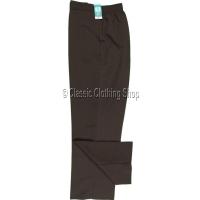 Dark Brown Plain Trousers