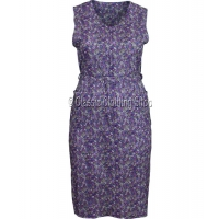 Lilac Zipped Floral Pinafore Dress