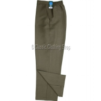 Taupe Self Stripe Trousers