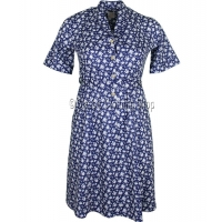 Navy Floral Short Sleeve Dress