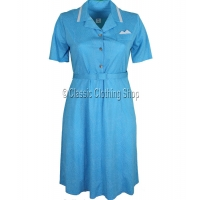 Turquoise Spot Short Sleeve Dress Standard Fit