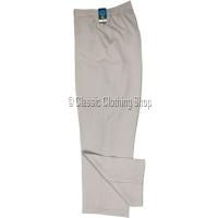 Stone Herringbone Self Pattern Trousers