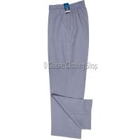 Grey Herringbone Self Pattern Trousers