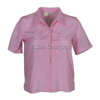 Pink Nicole Lewis Short Sleeve Blouse