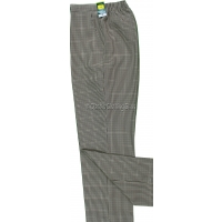 Stone Dogtooth Pattern Trousers
