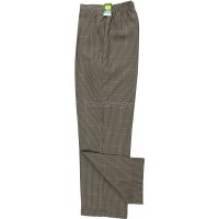 Taupe Dogtooth Pattern Trousers