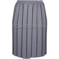 Grey Box Pleated Fully Elasticated Skirt