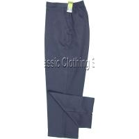 Navy Herringbone Self Pattern Trousers