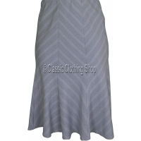 Light Grey Panelled A-Line Skirt