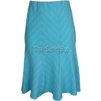 Turquoise Panelled A-Line Skirt