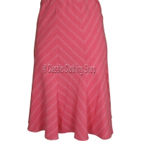 Coral Panelled A-Line Skirt