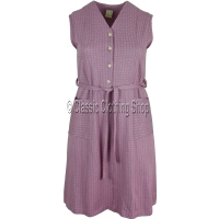 Soft Pink Diamond Pattern Pinafore Dress