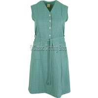 Teal Diamond Pattern Pinafore Dress
