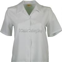 White Nicole Lewis Short Sleeve Blouse