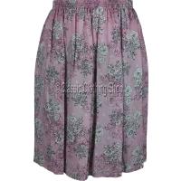 Pink Floral Printed Viscose Skirt