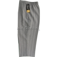 Grey Stripe Cropped Trousers