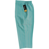 Cyan Stripe Cropped Trousers