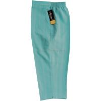 Cyan Stripe Cropped Trousers