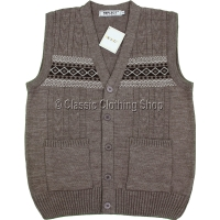 Mocca Mens Classic Knitted Waistcoat