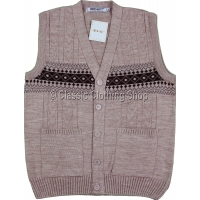 Salmon Mens Classic Knitted Waistcoat