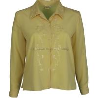 Lemon Embroidered Long Sleeve Blouse