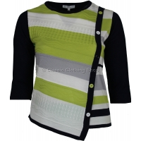 Lime/Navy Three Quarter Sleeve Jumper