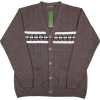 Mocca V Neck Twin Pocket Cardigan