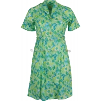 Mint Floral Short Sleeve Dress