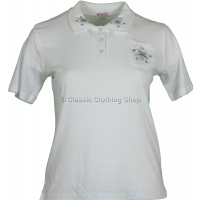 White Polo T-Shirt Top