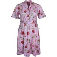 Pink Floral Short Sleeve Dress