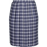 Grey Check Short Fitting Box Pleated Skirt