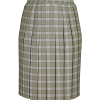Pebble Check Short Fitting Box Pleated Skirt