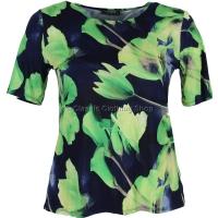 Lime Floral Printed Slinky Top