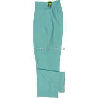 Marine Green Linen Look Trousers