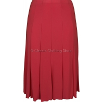 Coral Plain Lined Panelled Skirt