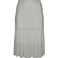 Cream Plain Lined Panelled Skirt