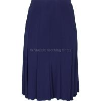 Navy Plain Lined Panelled Skirt