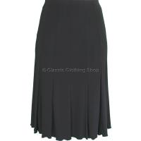 Black Plain Lined Panelled Skirt