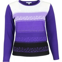 Plum Combination Long Sleeve Jumper